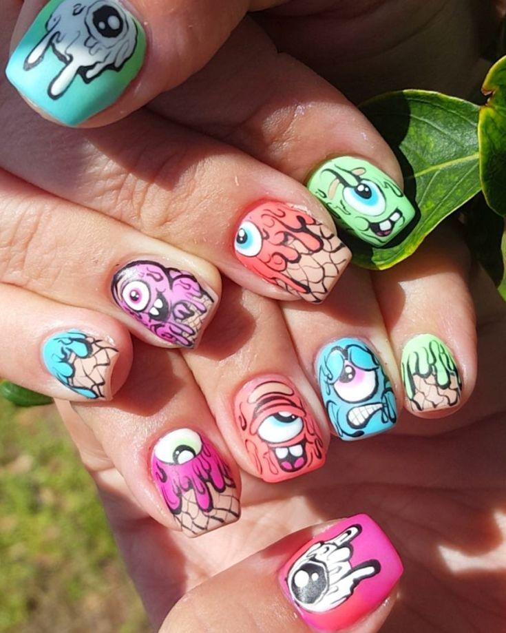 Смешные рисунки на ногти